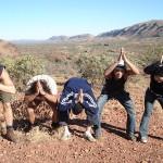 Un delire dans le desert d'Australie avec des touristes japonais