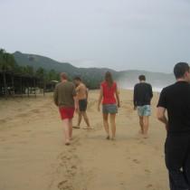 Sur la plage a Pie de la cuesta