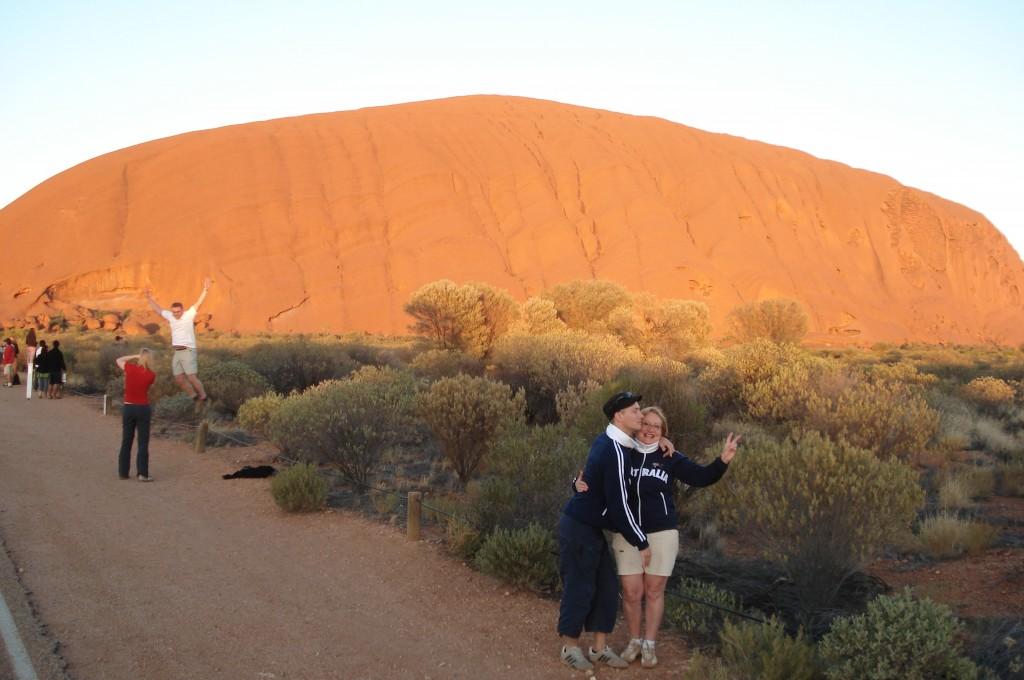 Aurélien et Josiane Ayers Rock Australie 2008